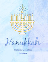 Hanukkah5 Greeting Card (4x55)